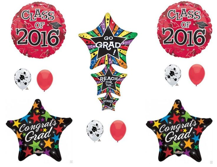 REACH FOR THE STARS CLASS OF 2016 Graduation Party Balloons Decoration Supplies #Anagram #Graduation
