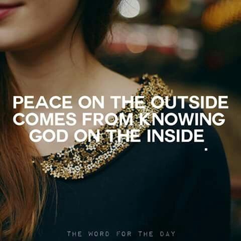 Jesus is the only source of true peace