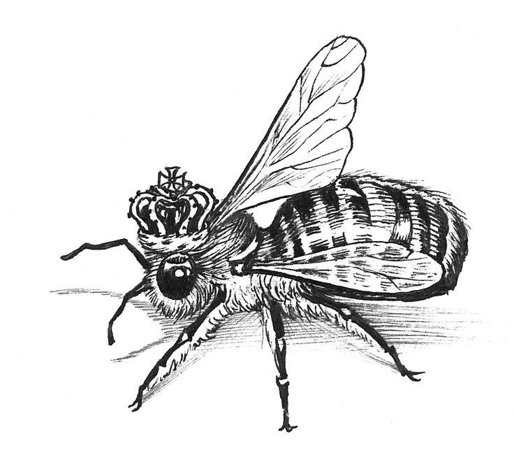Queen Bee Intricate Ink Original