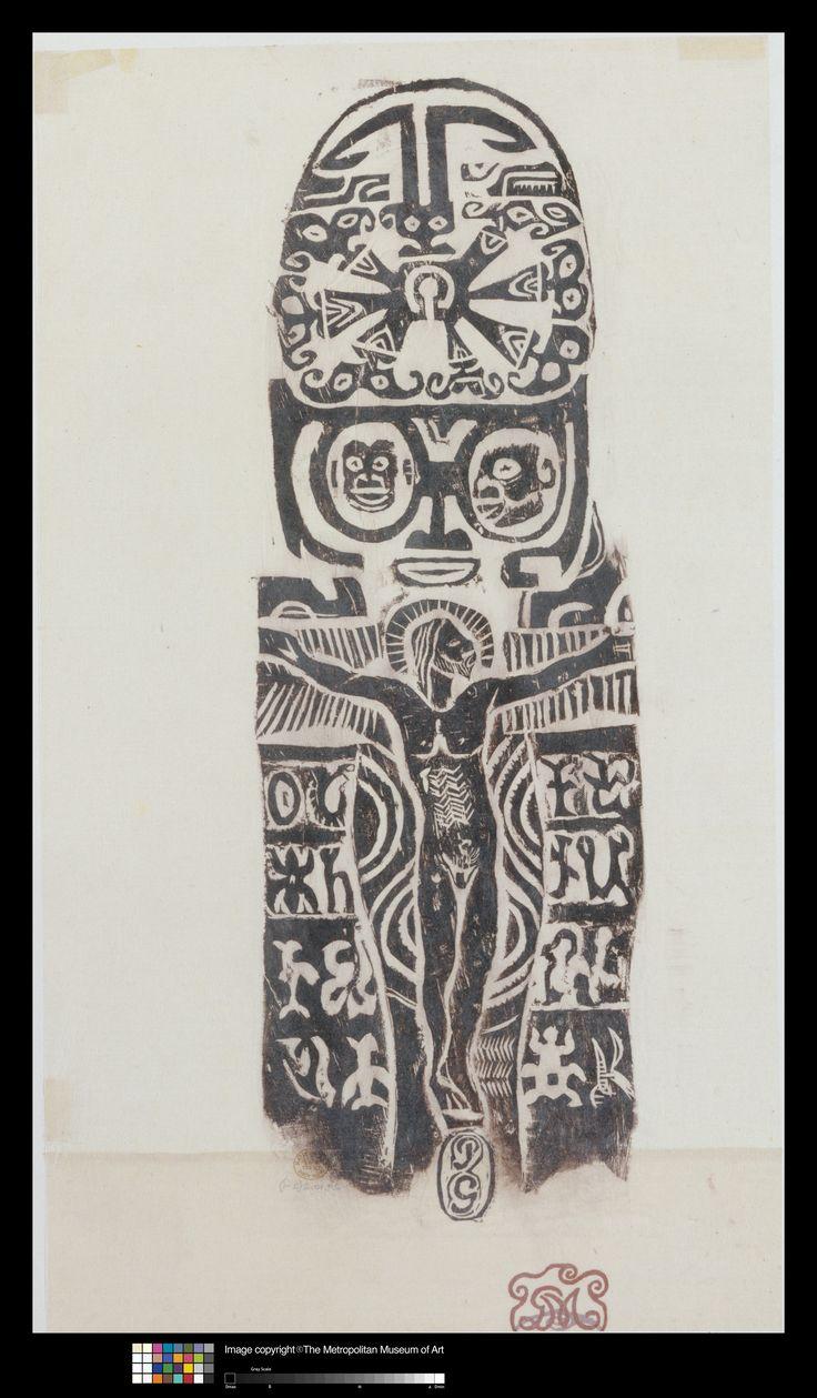 Eugène Henri Paul Gauguin (1848-1903) Christ on the Cross, 1926 Rubbing on Japan paper Sheet: 20 1/2 x 10 1/4 in. (52.1 x 26 cm) Image: 15 7/8 x 5 3/8 in. (40.3 x 13.7 cm) Mount: 16 x 22 in. (40.6 x 55.9 cm) Harris Brisbane Dick Fund, 1929 The Metropolitan Museum of Art, New York, 29.10.2(2-1)