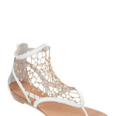 Gamins - Yoosay - Flat Sandals (White)  available at www.shoesonline.com.au