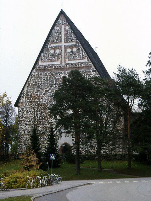Lohjan kirkon länsipääty. Kuva: MV/RHO 28749 Martti Jokinen 1989