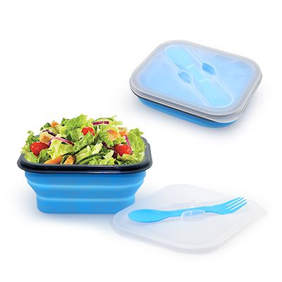 Foldable Lunch Box With Cutlery Set
