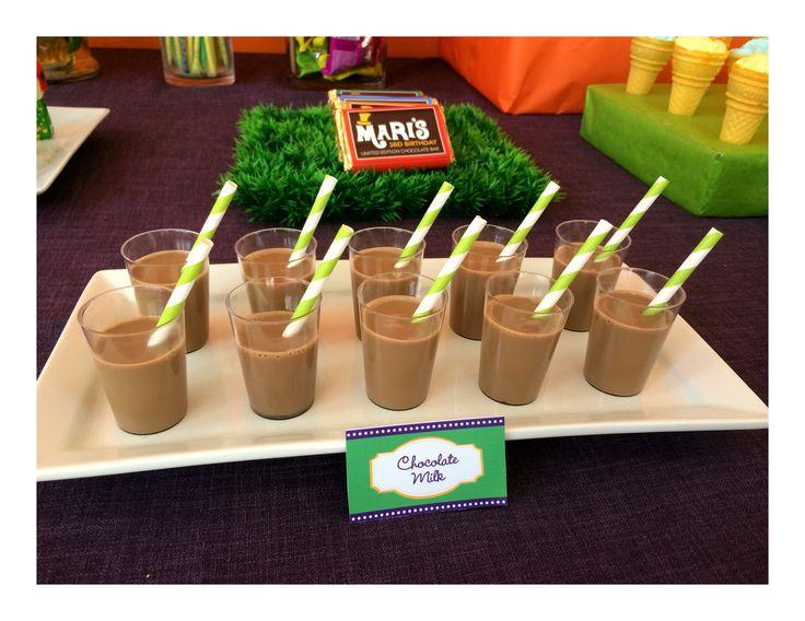 Willy Wonka chocolate milk #willywonkaparty