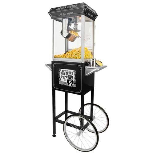 8oz Black Popcorn Popper Machine Maker Cart  Today $229.99