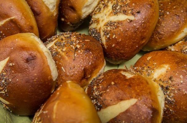 Gluten-Free Pretzel Bun  | Crunchy exterior, soft interior with a salty bite, homemade pretzel buns are simply out of this world.