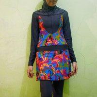 Baju Renang Muslimah Dewasa BRMD201411 Motif Abstrak beli di ellima.web.id