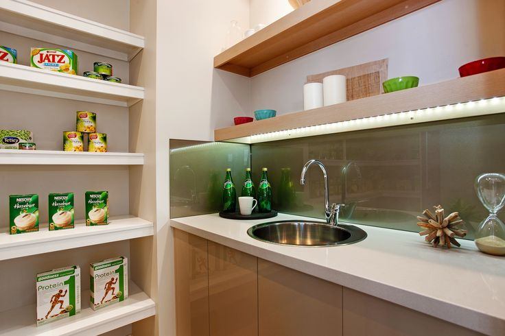 This NextGen home offers hidden luxury with a Butler's Pantry for added storage options. Learn about the Garden Retreat at http://www.mcdonaldjoneshomes.com.au/home-designs/new-south-wales-and-queensland/garden-retreat #butlerspantry #butlerspantryideas #butlerspantryideaslayout #butlerspantriesmodern #kitchen #gourmetkitchen #storage #kitchenstorage #style #interiordesign #home #newhome  #displayhome #displayhomes #mcdonaldjoneshomes