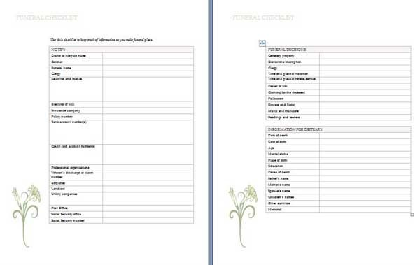 Printables Funeral Planning Worksheet funeral planning words and on pinterest