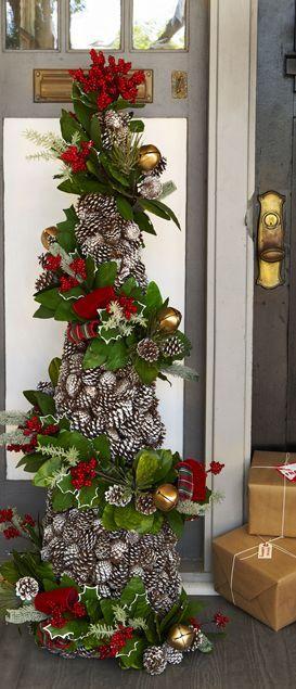 Tendencia en decoración de navidad rustica - pinos