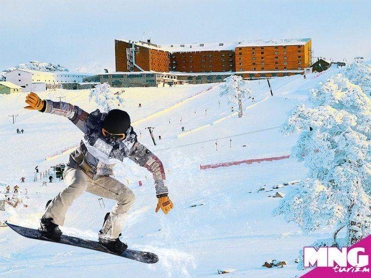 Dünya standartlarında bir pistte snowboard yapmaya ne dersin?  Dorukkaya Ski & Mountain Resort, Kartalkaya'da seni bekliyor.