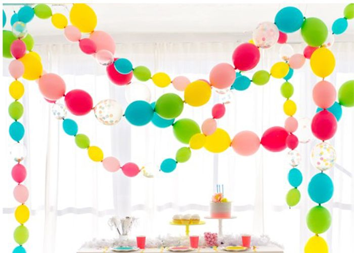 M s de 25 ideas fant sticas sobre guirnalda de globos en - Globos para decorar ...