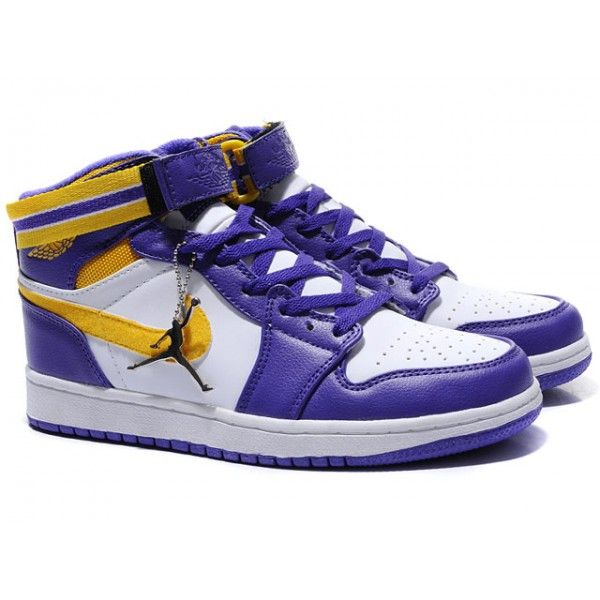 Get your Cheap Air Jordan 1 High Shoes In Purple/White/Yellow from Air  Jordan Retro Outlet online.