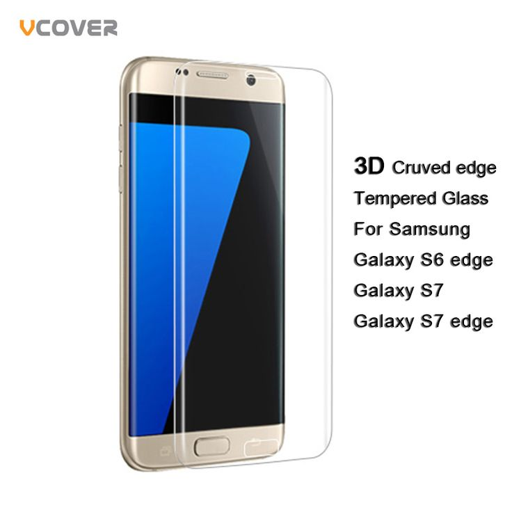 Vcover 3D Curved Full Cover Screen Protector Tempered Glass for Samsung Galaxy S7 edge S6 edge S7 Protective Film Phone glass *** View the item in details by clicking the VISIT button