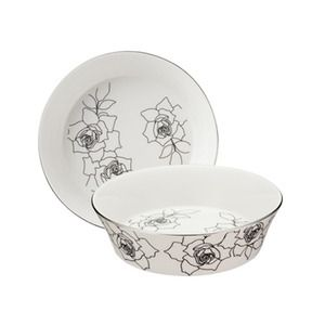 Silver Rose Small Bowl
