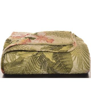 Tommy Bahama Tropical Orchid 3-piece Quilt Set - Overstock Shopping - Great Deals on Tommy Bahama Quilts