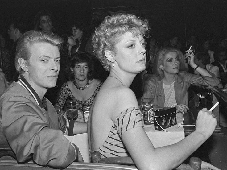 David Bowie, Susan Sarandon & Catherine Deneuve photographed by Jean-Claude Deutsch, 1982
