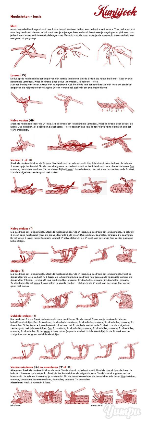 Haaksteken overzicht - Kunjijook! - Magazine with 4 pages: Haaksteken overzicht - Kunjijook!