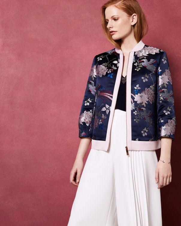 6ee3374ae Chinoiserie Jacquard bomber jacket. Ted Baker. | STYLE || Eclectic ...