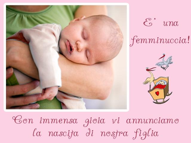 Annuncio nascita bimba...