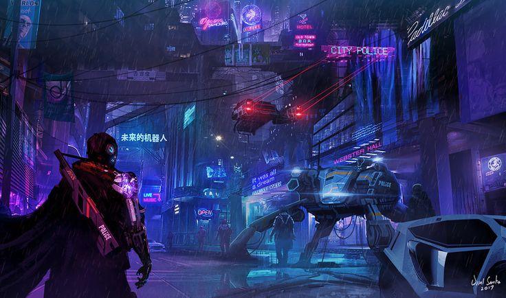 Ciudad cyberpunk. Ambientación #SciFi en #ForjaEnana