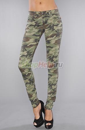 Стиль Милитари - камуфляжные штаны с резинкой внизу