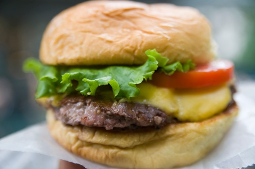 Decadent Shake Shack burger.