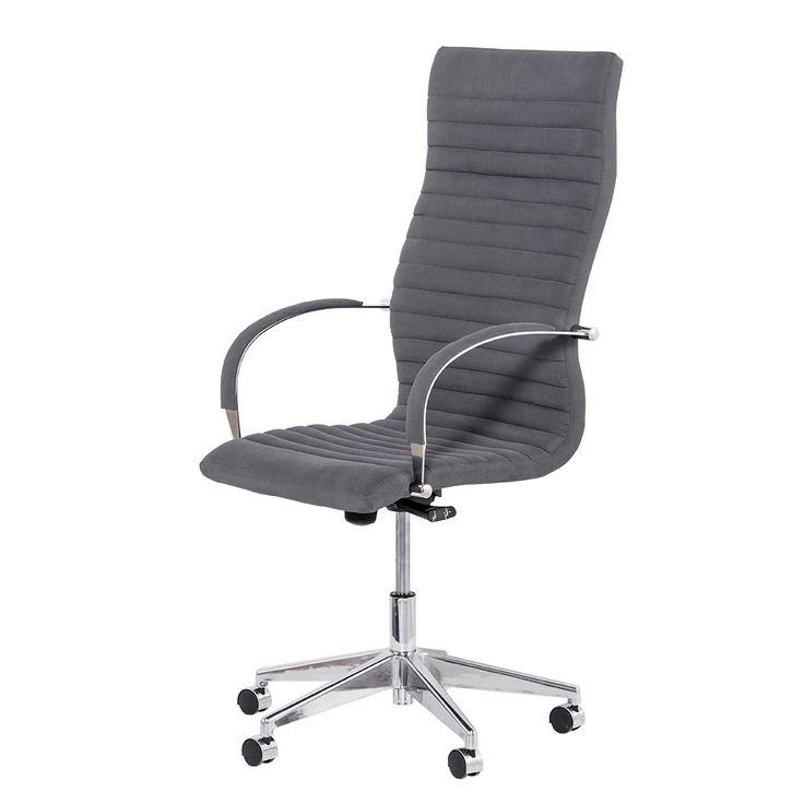 Mobexpert scaun managerial cu spatar inalt gri Atum