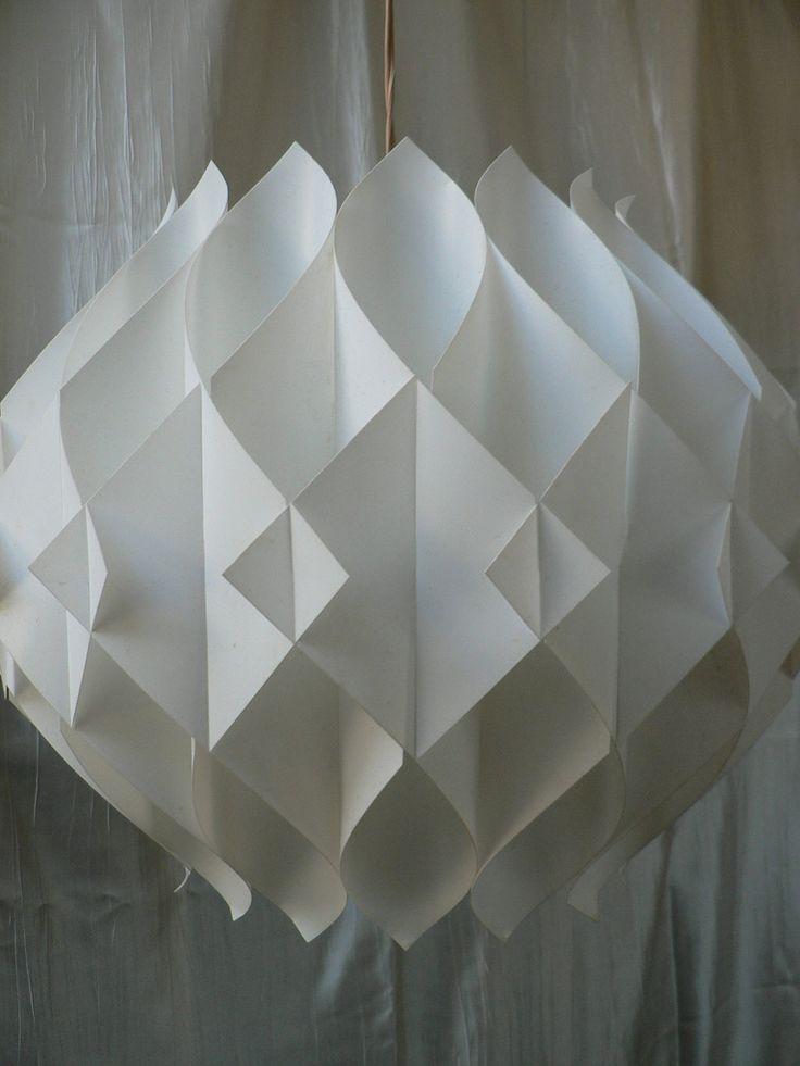 folded plastic lamp -