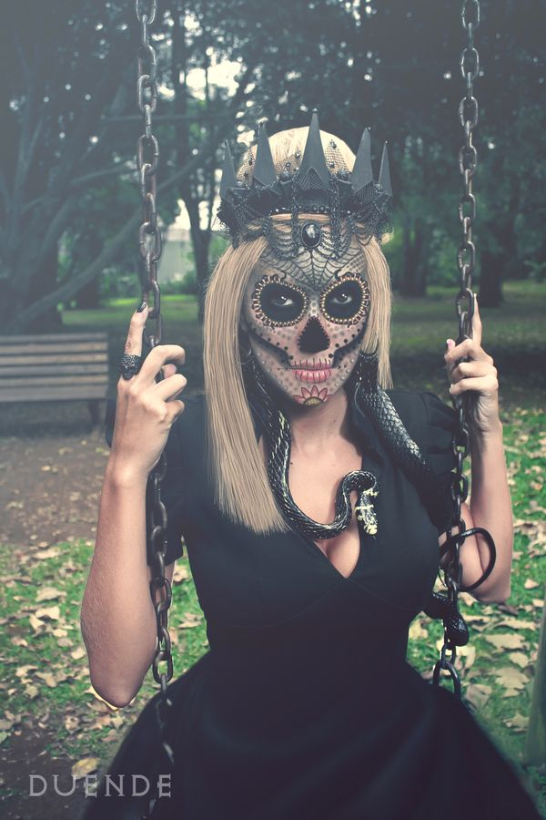 Makeup the day of the dead. Sugarskull