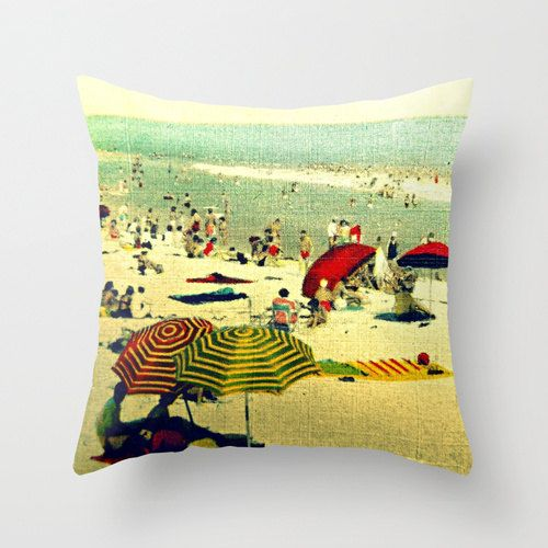 Vintage Summer Pillow Decorative Pillow Throw by VintageBeach, $38.00 pillow decor ...