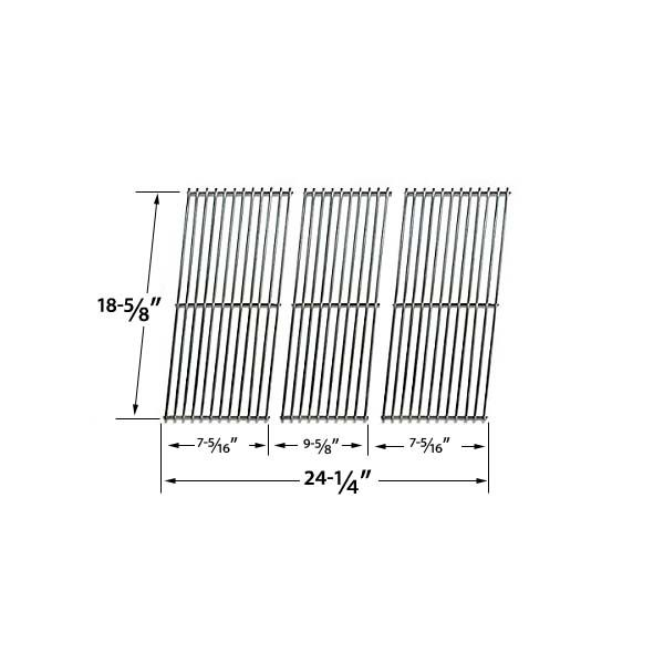 3 PACK STAINLESS STEEL REPLACEMENT COOKING GRID FOR ACADEMY SPORTS, KMART, MASTER FORGE, OUTDOOR GOURMET AND KENMORE GAS GRILL MODELS Fits Compatible Academy Sports Models : B070E4-A, BQ06W1B, BQ06W1C-A Read More @http://www.grillpartszone.com/shopexd.asp?id=34745&sid=25996
