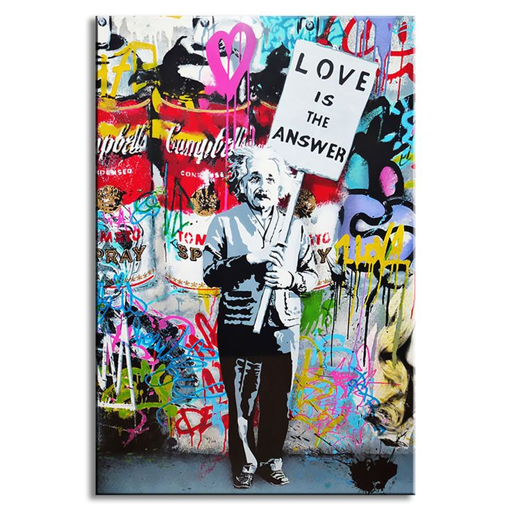 "Lowest Price HERE: https://www.rousetheroom.com/products/banksy-wall-art-love-is-the-answer-large-colorful-graffiti-street-artwork Banksy Wall Art ""Love Is The Answer"", Large Colorful Graffiti Street Artwork"