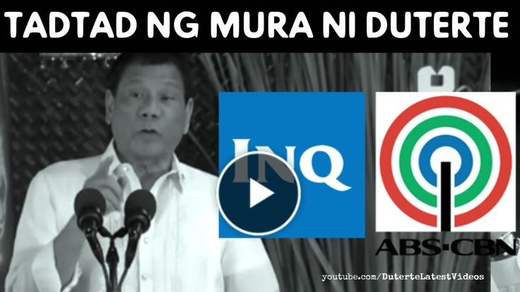 """DUTERTE NAGALIT SA INQUIRER AT ABS-CBN 'Inquirer ulol kayo, pati ABS CBN' 