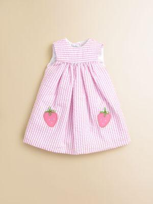 Florence Eiseman - Doll's Strawberry Seersucker Dress