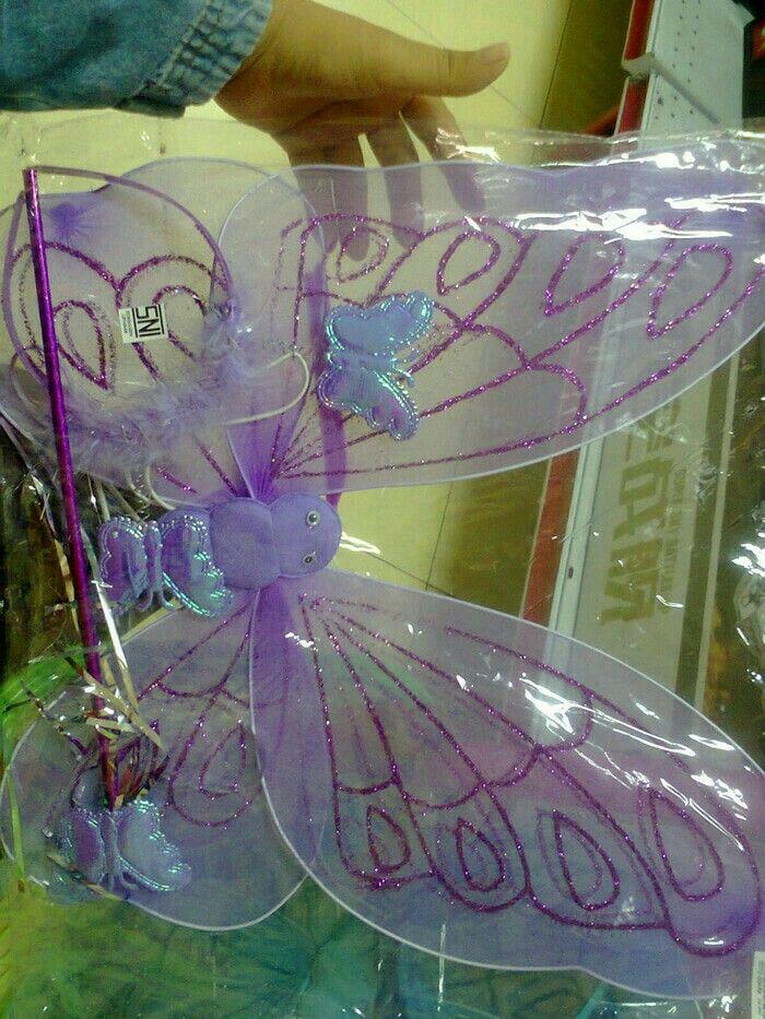 sayap peri kupu tongkat bando ready warna putih,biru,pink,ungu hrg 60.000 SMS/wa 085642917567