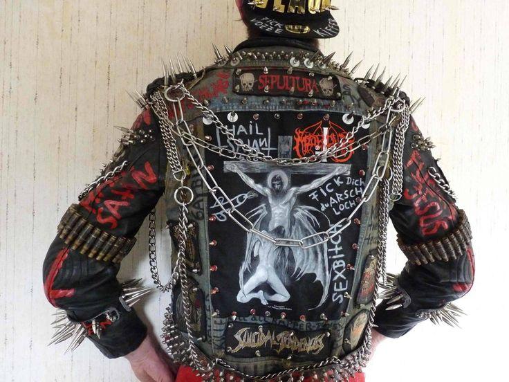Heavy Kruppstahl Metal jacket | Heavy metal fashion, Punk ...