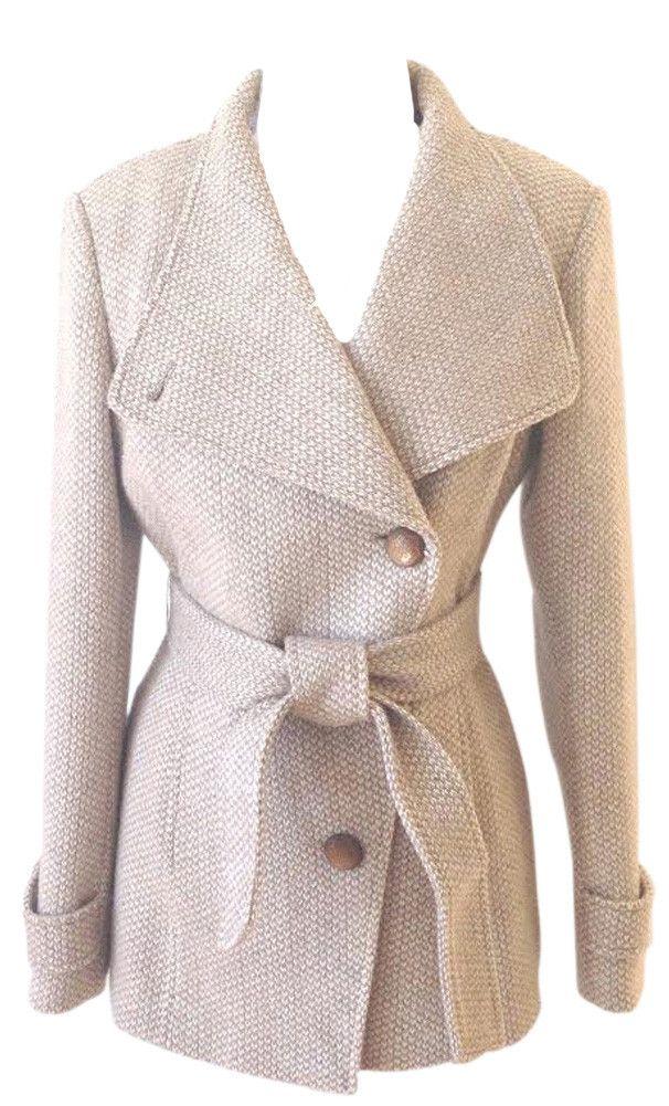 Jessica Simpson Women's Flare Wool Winter Peacoat Jacket