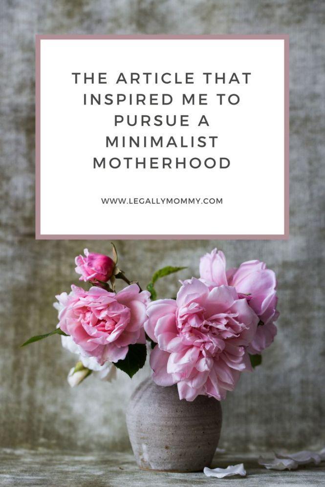 minimalist motherhood