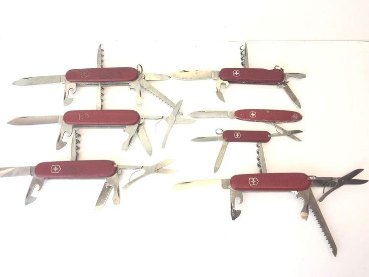 Lot 7 Victorinox Swiss Army Pocket Knife Officer Wenger Rostfrei  #Victorinox