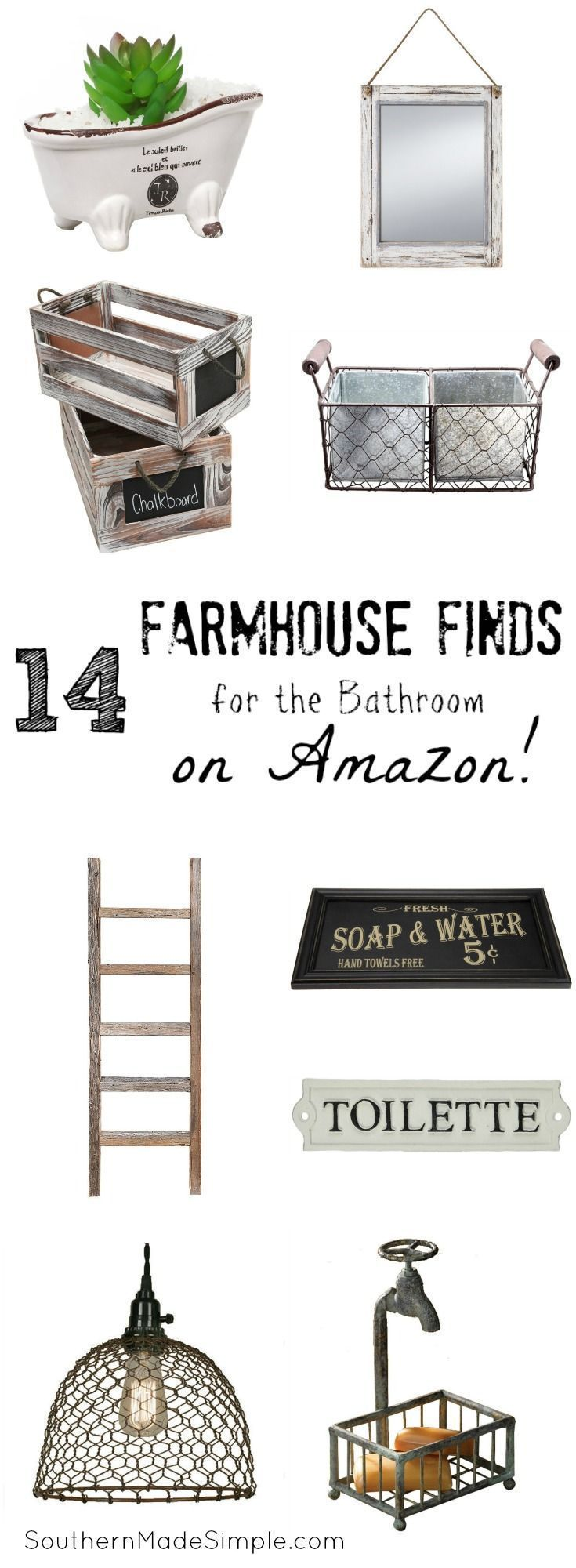 14 Farmhouse Decor Items you can find on Amazon! Hello, 2 day shipping!