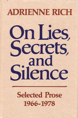 37 best books images on pinterest book lists books to read and libros on lies secrets and silence selected prose adrienne rich an honorable human relationship that is one in which two people have the right to use the fandeluxe Image collections