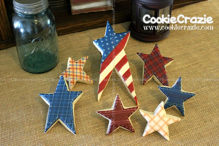 CookieCrazie: America, You're the Star (Cookie Collection): Stars Cookies, Patriotic Military, Cookiecrazi, Cookies Mmm, Patriots Cookies, Cookies Collection, July 4Memori, Patrioticmilitari, Cookies Cak