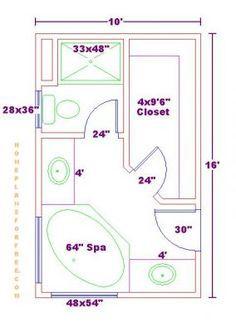 Image result for bathroom closet floor plan 10x10 wide ...