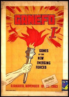 RARE BOOK - BUKU LANGKA: Poster GANEFO I, th. 1963