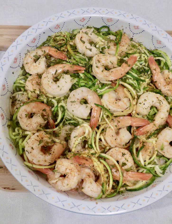 Lemon Garlic Shrimp with Zucchini Noodles
