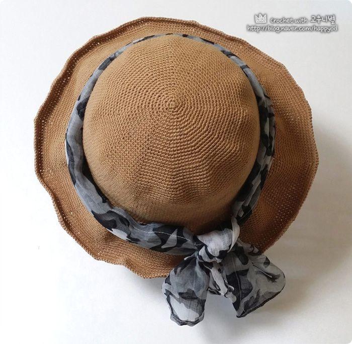 [원데이 클래스] 코바늘 여름모자 만들기 #코바늘_여름모자 #Floppy #Hat #crochet #summer_hat