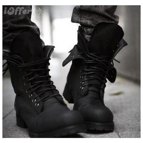 combat-boots-winter-fashionable-men-s-short-black-shoe-e076.jpg... ❤ liked on Polyvore featuring men's fashion, men's shoes, men's boots, boots, mens military boots, mens black shoes, mens black combat boots, mens short boots and mens boots