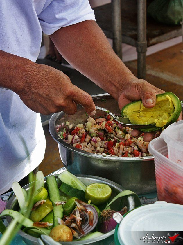 AmbergrisToday.com | Ceviche Preparing Competition at Dia De San Pedro Beach Party | Ambergris Caye, Belize