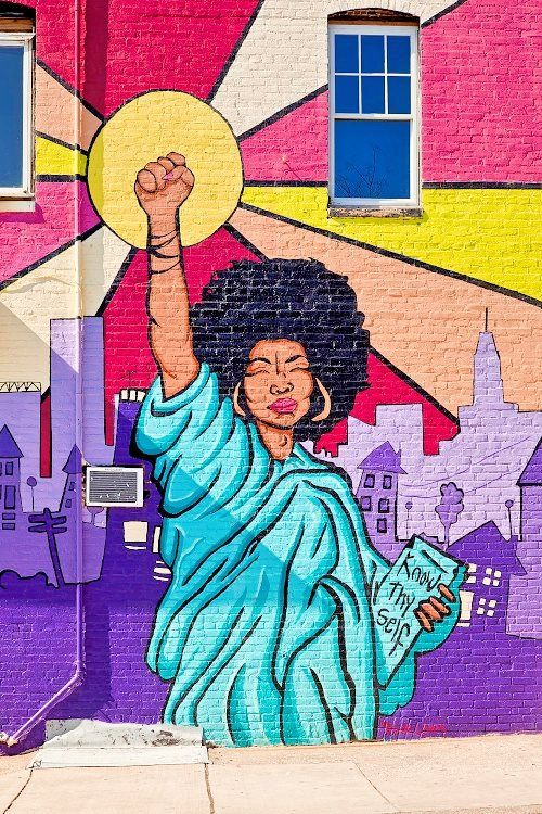fyblackwomenart:  Know Thyself Mural inspired by The Black Lives Matter Movement  LOCATION: Baltimore